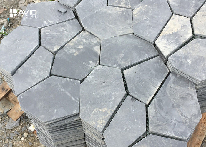 Durable Natural Slate Paving Stones 10/20mm Thickness Irregular Size Non Slip