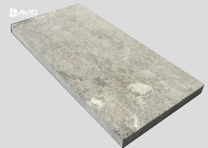 Decorative Grey Limestone Step Treads 60x30x2cm With Natural / Flamed Surface